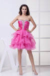 Modern A-line Sweetheart Zip up Organza Party Dresses