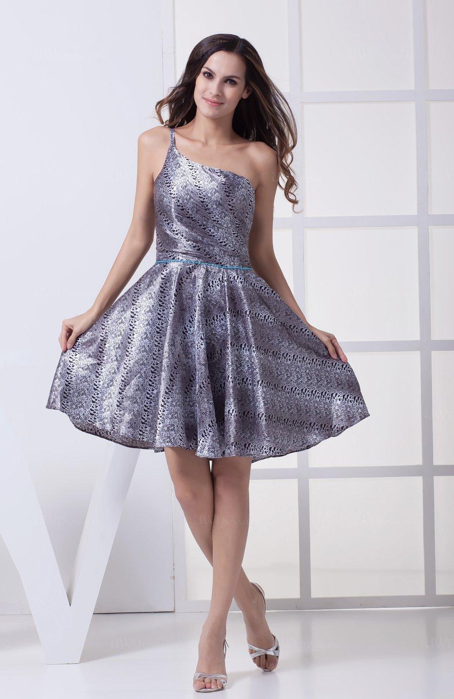 Cute A Line Asymmetric Neckline Sleeveless Party Dresses