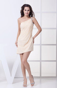 Cute Sheath Asymmetric Neckline Sleeveless Short Ruching Club Dresses
