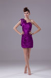 Sexy One Shoulder Sleeveless Mini Rhinestone Party Dresses