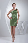 Simple Sheath Sleeveless Zipper Satin Short Party Dresses