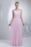 Elegant A-line Thick Straps Chiffon Floor Length Bridesmaid Dresses