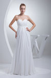 Elegant Garden A-line Sweetheart Chiffon Draped Bridal Gowns