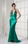 Sexy Mermaid V-neck Sleeveless Silk Like Satin Sequin Homecoming Dresses