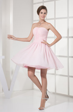Blush Cute Sweetheart Sleeveless Backless Paillette Bridesmaid Dresses