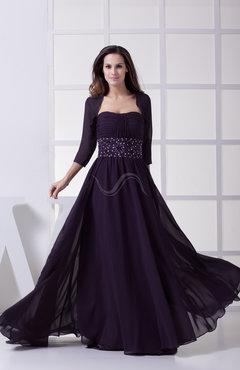 Vintage A-line Chiffon Court Train Ribbon Graduation Dresses
