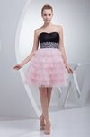 Elegant Sweetheart Backless Short Tiered Party Dresses