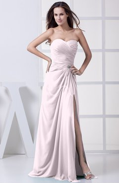 Blush Modest A-line Sweetheart Chiffon Floor Length Bridesmaid Dresses