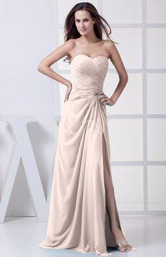 Silver Peony Modest A Line Sweetheart Chiffon Floor Length Bridesmaid Dresses