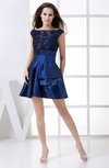Elegant A-line Sheer Sleeveless Taffeta Edging Wedding Guest Dresses