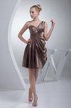 Elegant A-line Sleeveless Zip up Silk Like Satin Draped Bridesmaid Dresses