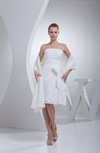 Plain A-line Sleeveless Backless Ruching Wedding Guest Dresses