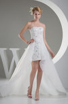 Simple Garden A-line Sleeveless Zip up Organza Sequin Bridal Gowns