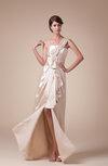 Vintage A-line Asymmetric Neckline Sleeveless Zip up Split-Front Bridesmaid Dresses