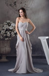 Modest A-line Sweetheart Chiffon Court Train Evening Dresses