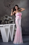 Sexy Strapless Lace up Floor Length Sequin Evening Dresses