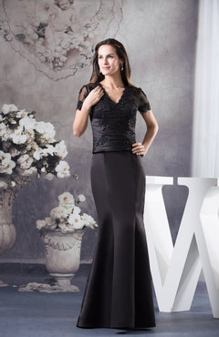 Glamorous Mermaid V-neck Zipper Floor Length Graduation Dresses
