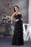 Modern Column Strapless Sequin Prom Dresses