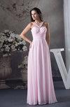 Plain A-line Sleeveless Backless Floor Length Bridesmaid Dresses