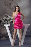 Simple Sheath Asymmetric Neckline Sleeveless Backless Little Black Dresses