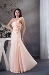 Elegant A-line Zip up Chiffon Ruching Wedding Guest Dresses