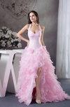 Gorgeous Princess Sleeveless Backless Organza Sweep Train Prom Dresses