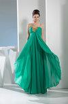 Cute A-line Sweetheart Sleeveless Zip up Chiffon Prom Dresses