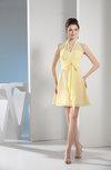 Elegant A-line Backless Chiffon Mini Bow Bridesmaid Dresses