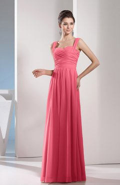 Watermelon Color Bridesmaid Dresses - UWDress.com