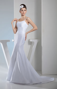 White Sexy Church Mermaid Sleeveless Zipper Court Train Plainness Bridal Gowns