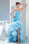 Elegant Trumpet Sweetheart Sleeveless Rhinestone Prom Dresses