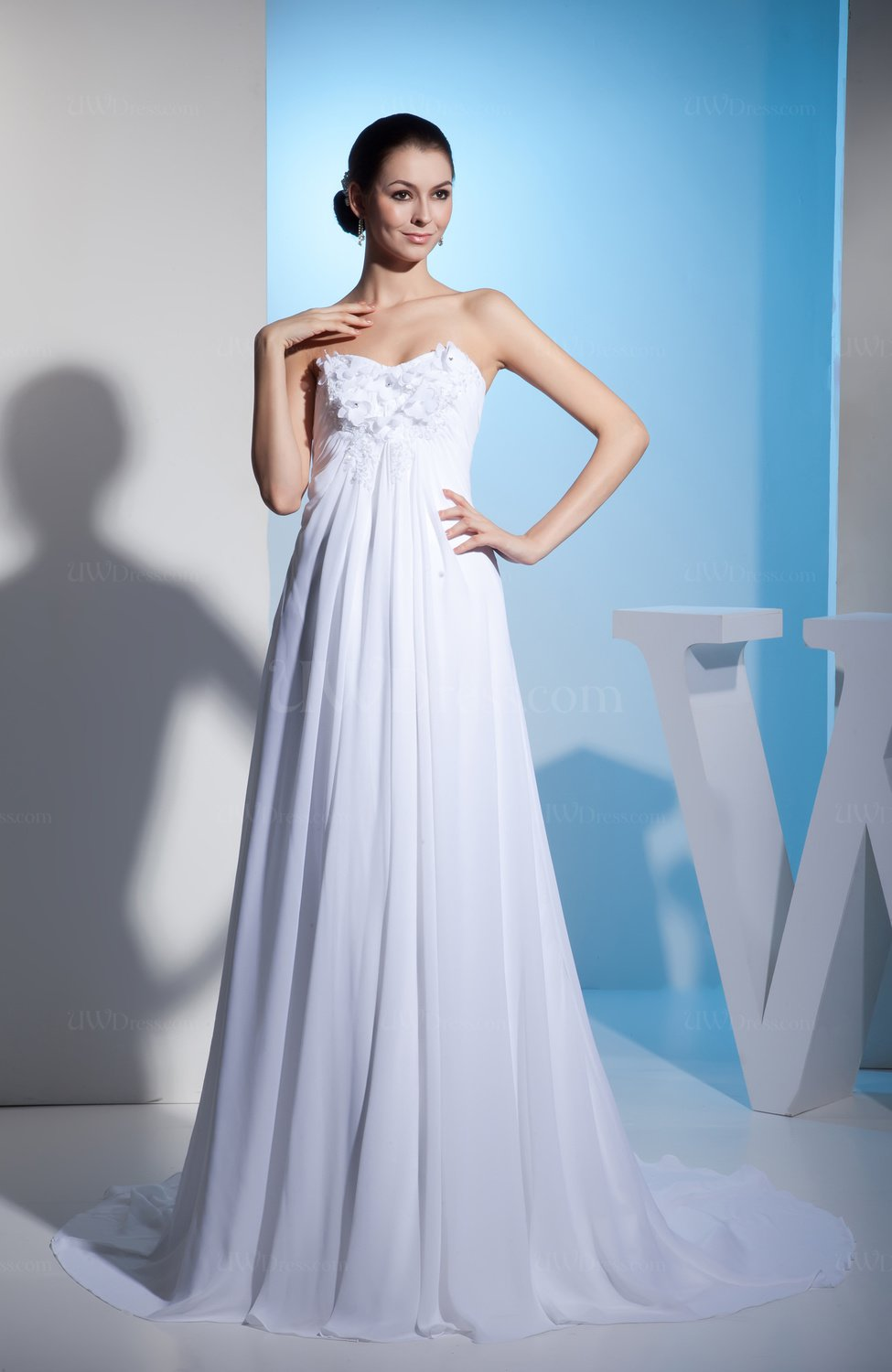 Cinderella Church A-line Sweetheart Sleeveless Pleated Bridal Gowns ...