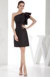 Simple Asymmetric Neckline Sleeveless Zipper Taffeta Bridesmaid Dresses