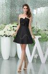 Hawaiian A-line Sleeveless Zipper Mini Little Black Dresses