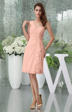 Burnt Orange Elegant Sheath Sleeveless Zipper Knee Length Ruching Party Dresses
