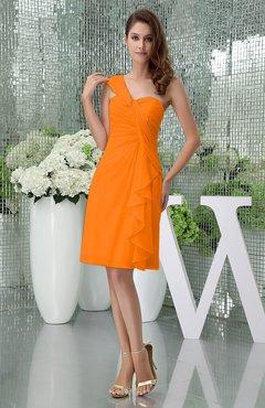 Orange Knee Length Formal Dresses