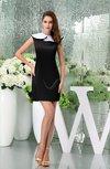 Plain Sheath Jewel Zipper Mini Bridesmaid Dresses