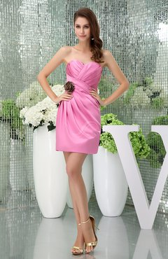 Begonia Cute Sweetheart Zipper Satin Short Prom Dresses