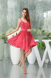 Modest A-line Thick Straps Sleeveless Sash Party Dresses