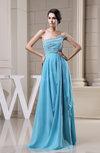Glamorous A-line Strapless Sleeveless Chiffon Floor Length Graduation Dresses