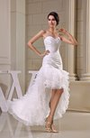 Cute Destination Trumpet Sweetheart Zipper Short Bridal Gowns