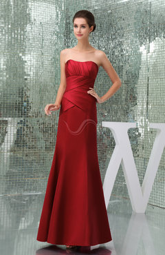 Elegant Sweetheart Sleeveless Zip up Satin Floor Length Bridesmaid Dresses