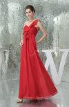 Romantic One Shoulder Sleeveless Chiffon Floor Length Pleated Bridesmaid Dresses