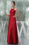Modest A-line Sleeveless Zipper Taffeta Bridesmaid Dresses
