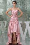 Modest Spaghetti Sleeveless Backless Silk Like Satin Ruching Bridesmaid Dresses