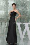 Modest Sleeveless Zipper Taffeta Floor Length Ruching Wedding Guest Dresses
