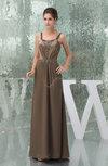 Classic Sleeveless Zipper Chiffon Ruching Evening Dresses