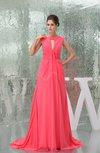 Modest Sabrina Sleeveless Zipper Chiffon Ruching Prom Dresses