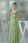 Plain A-line Halter Sleeveless Backless Chiffon Evening Dresses