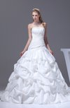 Classic Hall Princess Strapless Sleeveless Court Train Appliques Bridal Gowns